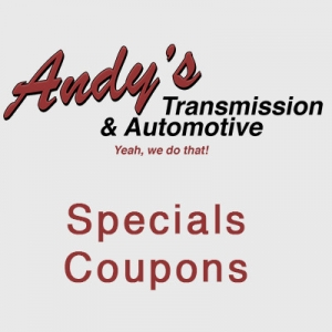 Andys Transmission and Automotive Dashboard Lights Specials Coupons
