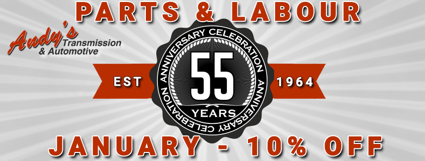 Automotive January Special Moose Jaw Celebrate 55 Years