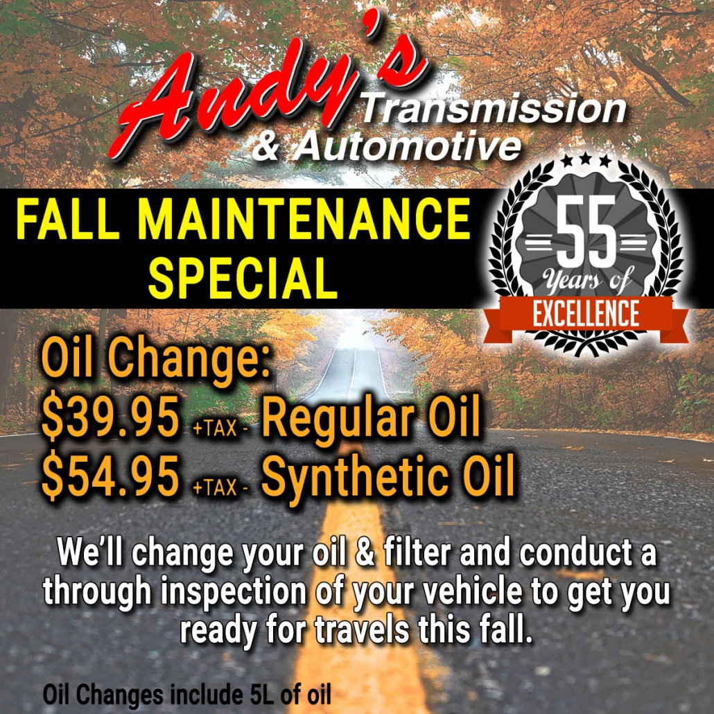 Moose Jaw Oil Change Special - Fall Maintenance Vehicle Special