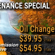 Fall Maintenance Special - Oil Changes