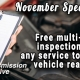 Moose Jaw FREE Multi-Point Inspection Vehicle Report