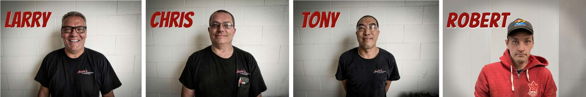 Andy's Transmission and Automotive Staff